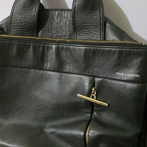 Pour La Victoire Bags - Black Top Handle Satchel